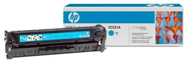 Заправка картриджа CC531A
