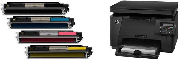 Картридж HP CF351A для LaserJet Pro M153/M176/M177. Голубой. 1000 страниц. 130A.